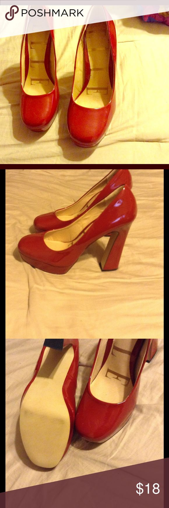 Red Heels NWOT Patent leather red heels ELLE Shoes Heels