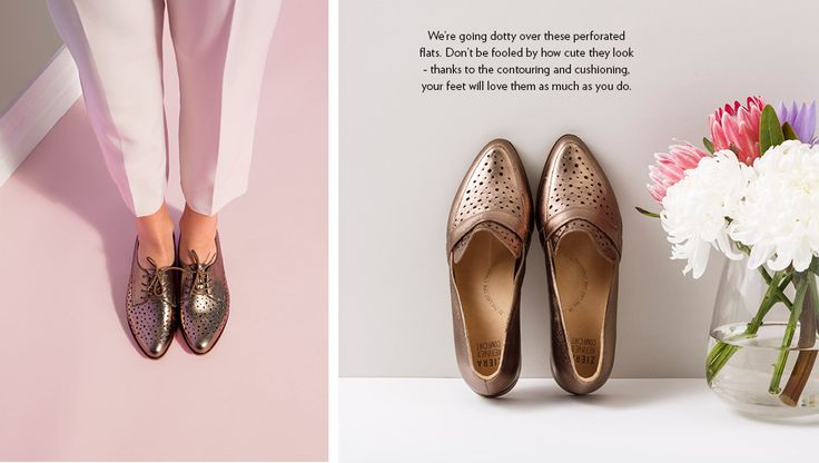 We're going dotty over these perforated flats. Don't be fooled by how cute they look - thanks to the contouring and cushioning, your feet will love them as much as you do. your  http://zierashoes.com/Style/939/obi