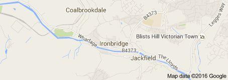 Map of Ironbridge United Kingdom