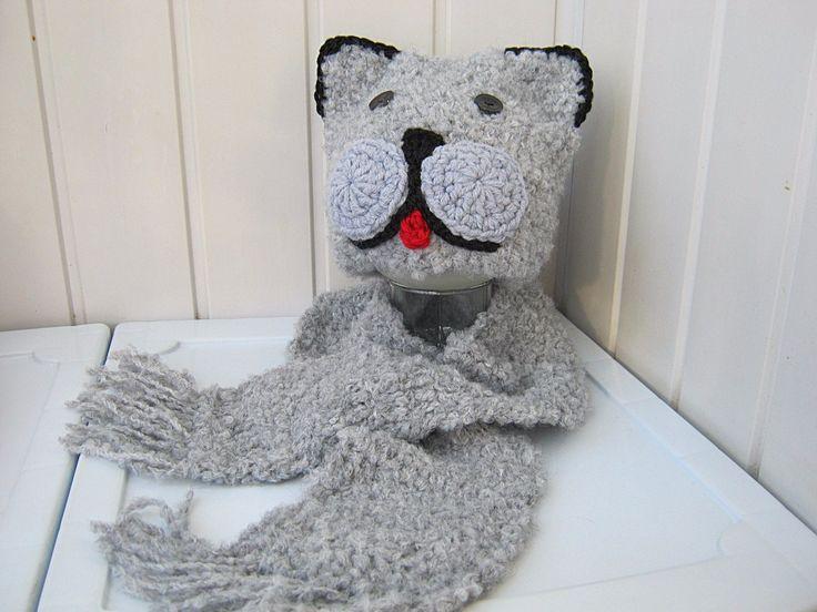 Children's hats children's scarf knitting kit by NataliaHandmede