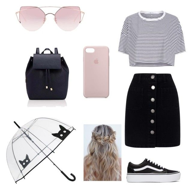 """""""Untitled #7"""" by cande-monier on Polyvore featuring T By Alexander Wang, Miss Selfridge, Vans, Barneys New York, LMNT and Apple"""