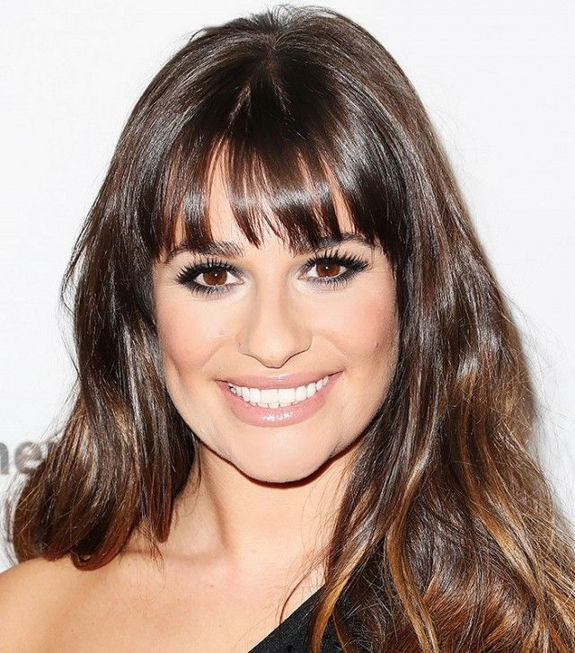 Lea Michelle proves fringe bangs framer her face perfectly