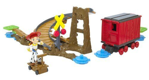 Toy Story 3 Action Links Jessie to the Rescue Stunt Set by Mattel. $16.45. From the Manufacturer                Toy Story 3 Action Links Playsets allows your child to continue their adventure with their favorite Toy Story 3 characters.  Add other playsets to bring the Toy Story 3 world even more to life.                                    Product Description                Once connected, a simple push of a button sets off the fun, creating a chain reaction of events where chara...