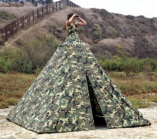 Tent dress. This is a way to get your wife to go hunting with you. Men buy her a new dress.