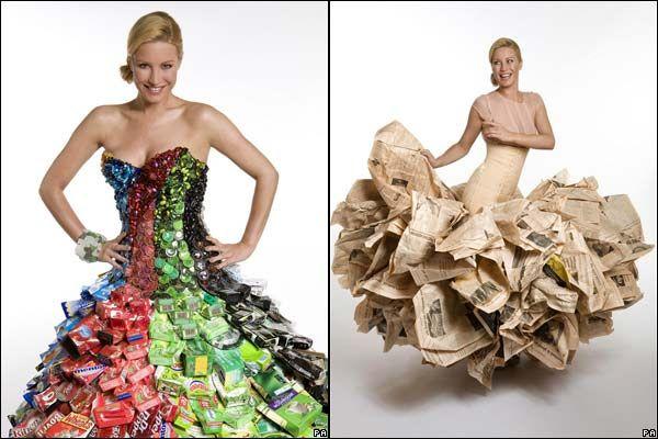 Aquí te tenemos una excelente opción para hacer un vestido reciclado de gala con empaques de alimentos, es muy simple y lo puedes hacer como un proyecto con los niños, para desfiles, para fiestas y concursos de disfraces. http://www.expoknews.com/como-hacer-un-vestido-reciclado/