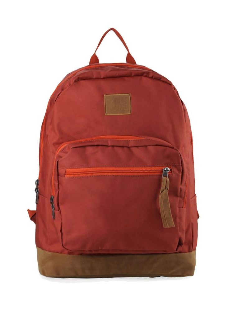 Red Downtown Backpack by Billabong. Red backpack made from polyester, one main compartment with pocket in front, zipper clossure. This bag also have a laptop sleeve inside, adjustable strap, stylish bag for everyday use.   http://www.zocko.com/z/JINmf