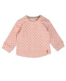 Stijlvolle sweater met hartjes dessin voor meisjes in light pink uit de colle...