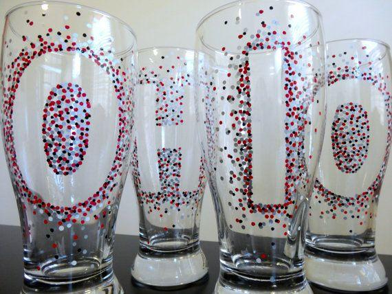 Ohio State University Pilsner Glasses