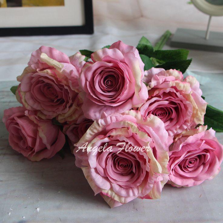 Большой размер 7 голов пион букет дворец императора роуз шелковый цветок букет…