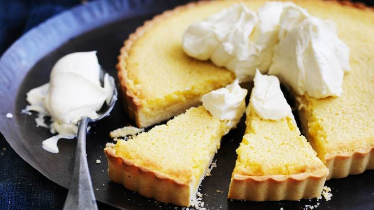 This tangy tart can be served with mascarpone, or with yoghurt or yoghurt ice-cream.