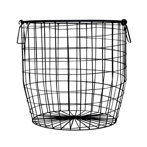 Exceptional Down To The Woods Wire Basket Large Black