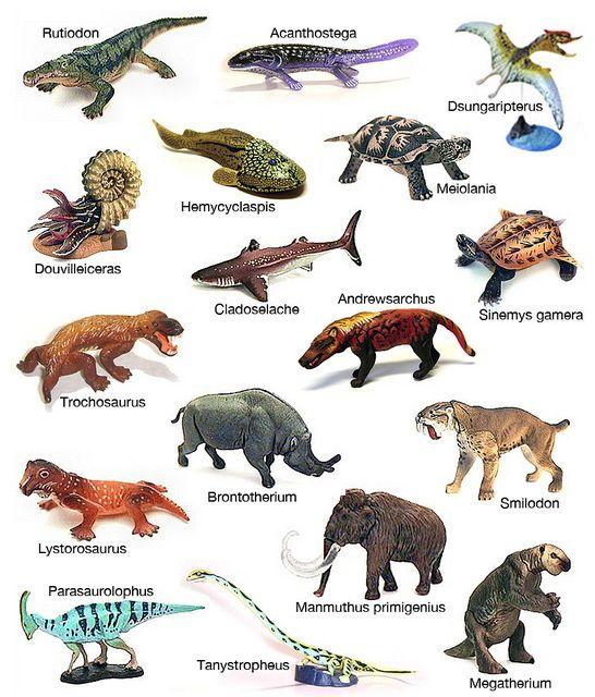 names of extinct anima...