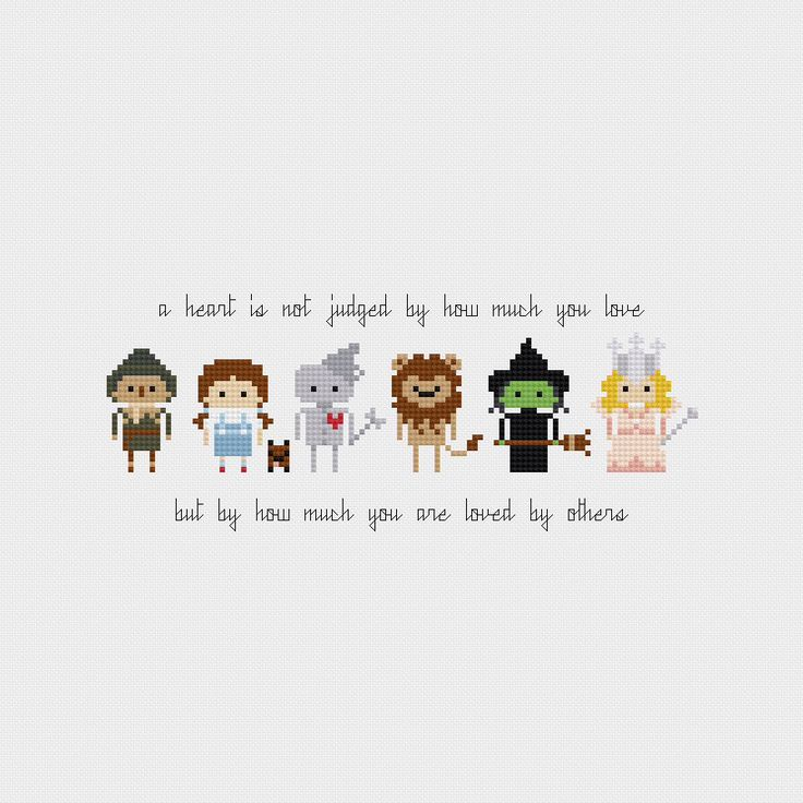The Wizard of Oz Quote Cross Stitch Pattern PDF Instant Download by pixelsinstitches on Etsy https://www.etsy.com/listing/191496909/the-wizard-of-oz-quote-cross-stitch