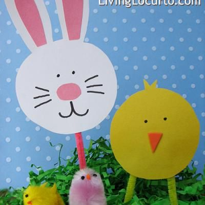 simple paper crafts easter