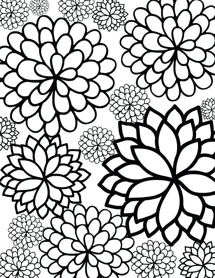 impresión de flores páginas para colorear páginas para colorear para ...