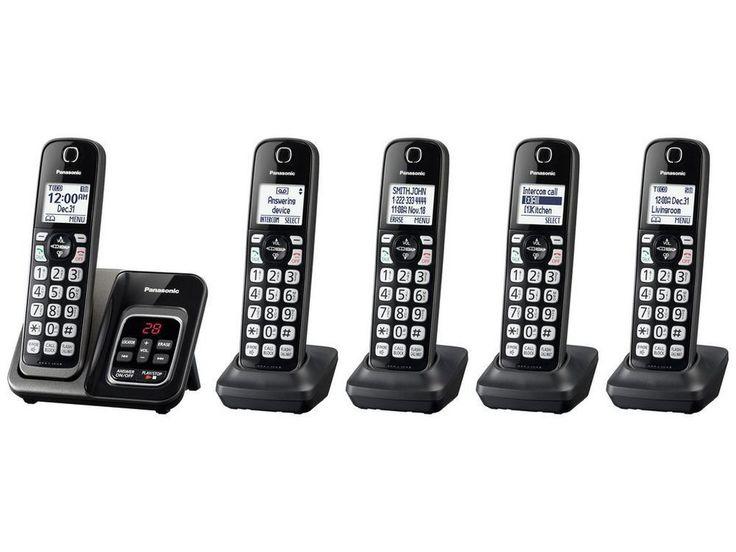 PANASONIC KX-TGD535M 5HS Expandable Cordless Telephone, ITAD, Met Black #Panasonic