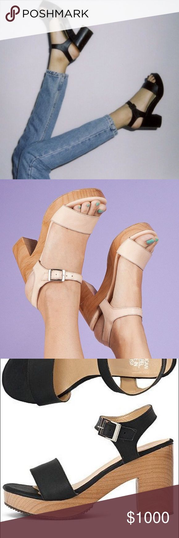 ISO American Apparel Sandal with Heel ISO this shoe in any colour! 💕 American Apparel Shoes Heels