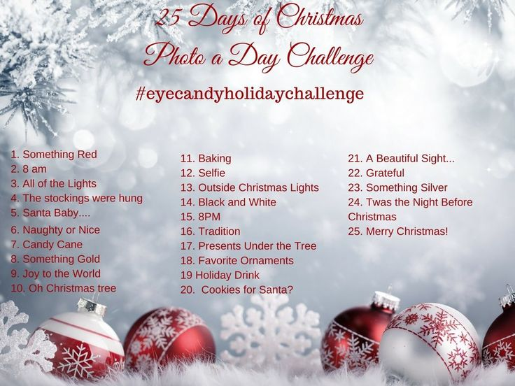 It's the most wonderful time of year and time for our 25 days of christmas photo a day challenge. Join us on Instagram and tag #eyecandyholidaychallenge