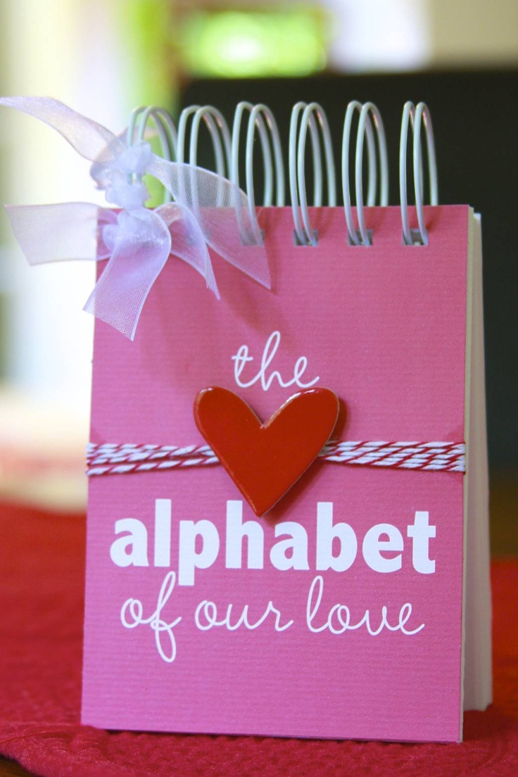 anniversary gift -- a collection of all the things (from A to Z) that you love about your husband/wife<3 This would just totally make their day!