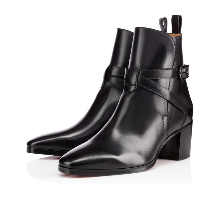 Christian #Louboutin #Pedro 60mm Black Leather Boot from Christian ...