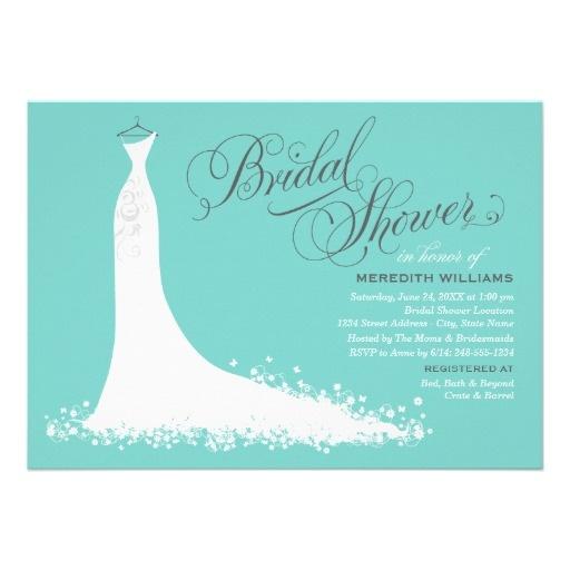 1000 images about tiffany blue bridal shower on pinterest for Elegant bridal shower invitations