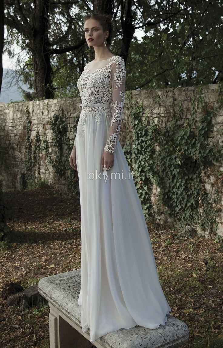 grande immagine 1 Abiti da Sposa Barchetta Elegante Formale Naturale A-Line