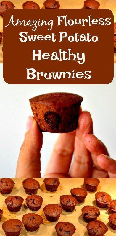 Amazing Flourless Sweet Potato Healthy Brownies. The perfect healthy treat for kids and adults #brownies #recipe #healthy #baking #sweetpotato