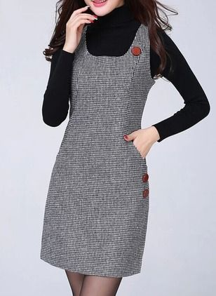 Polyester Solid Sleeveless Above Knee Casual Dresses (1023708) @ floryday.com