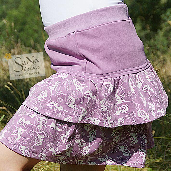 Stufenrock Elfengeflüster lavender genäht von SaNe-Stücke