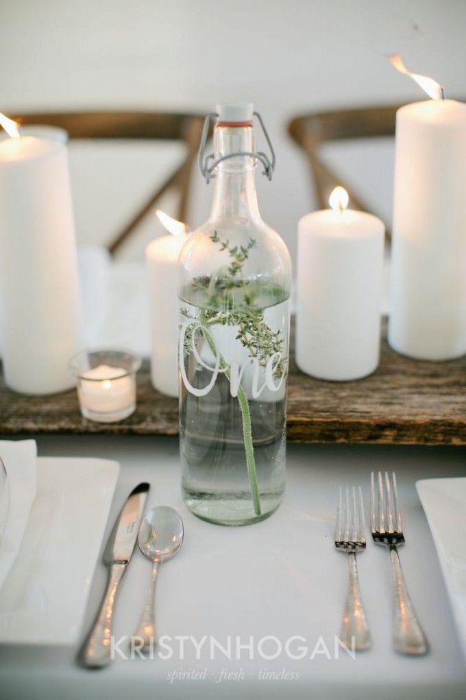 Herbal table numbers for a fresh twist #cedarwoodweddings 2016 Wedding Trends :: Herb Appeal | Cedarwood Weddings