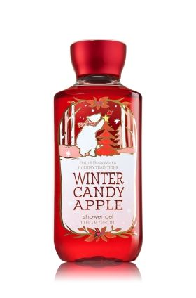 Winter Candy Apple - Shower Gel - Bath & Body Works - Wash your way to softer, cleaner skin with a rich, bubbly lather bursting with fragrance. Moisturizing Aloe Vera and Vitamin E combine with skin-loving Shea Butter in our most irresistible, beautifully fragranced formula!