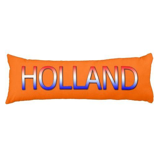 Sierkussen Body Oranje met Holland in Rood-Wit-Blauw. (50,8 x 137,16 cm).