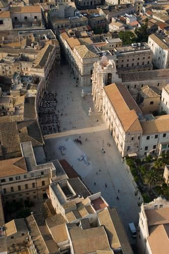 Piazza Duomo. Siracusa. Province of Siracusa , sicily region Italy