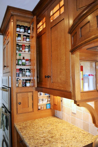 Craftsman Style Kitchen storage