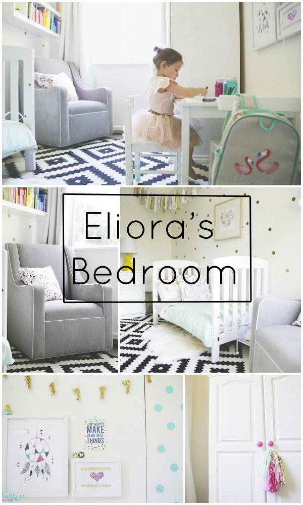 Elior'as beautiful white, pastel, and gold bedroom