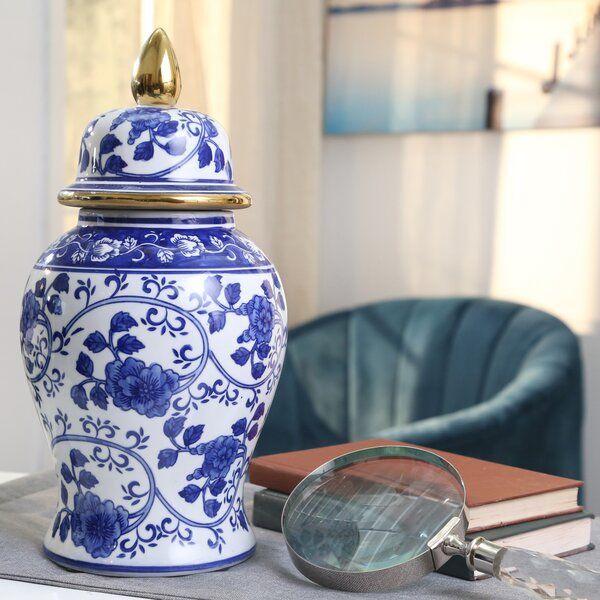 Conklin Ceramic Temple Jar Temple Jar Table Vases Ceramic Jars