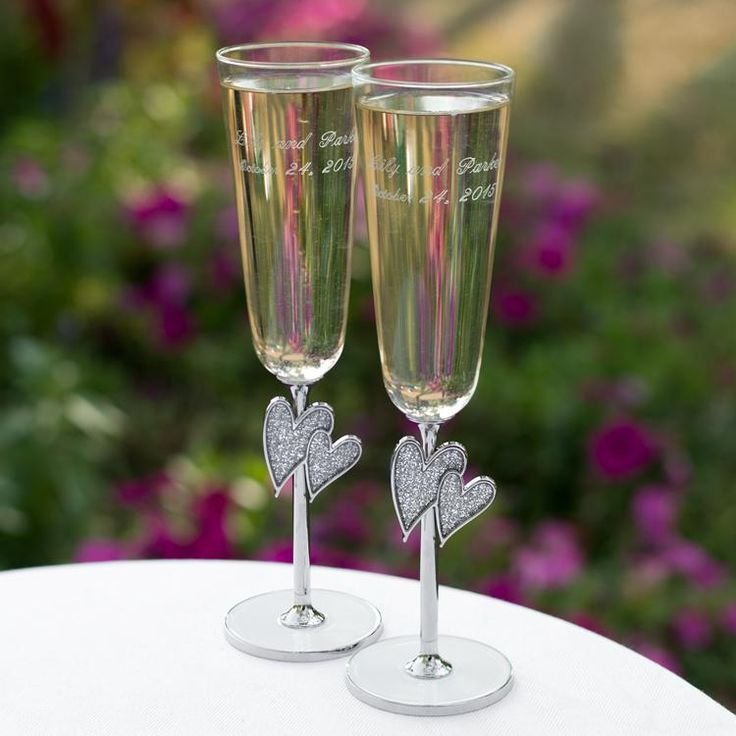106 Best Wedding Toasting Flute Sets Images On Pinterest