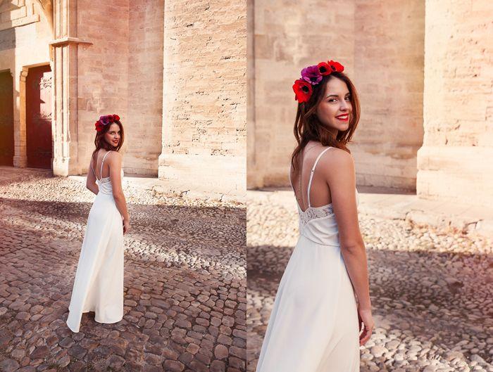 Robe mariage. Bohème chic http://poldine-paris.fr  Photo:Caxam