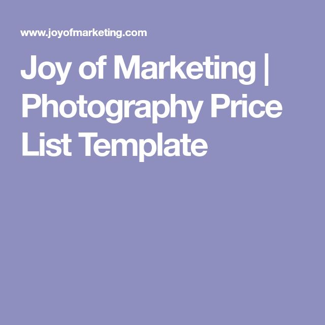The  Best Photography Price List Ideas On
