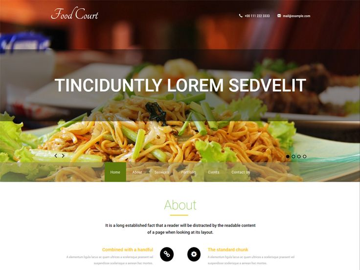 Food Court is an exciting and great free Bootstrap hotel template for your hotel, restaurant, booking, motel business websites. This luscious web template is designed using HTML5, CSS3, and Bootstrap framework. Check out this free Bootstrap template and give your site a new look.