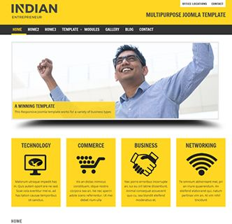 Indian Entrepreneur Joomla Responsive Template, a superb and versatile template with various colours, fonts and styles. There is a quickstart package included so you can easily recreate a working copy of the demo below:  http://joomzilla.com/the-best-joomla-templates/89-indian-entrepreneur-business-technology-electronics  #joomla #joomzilla #joomlatemplates #cms