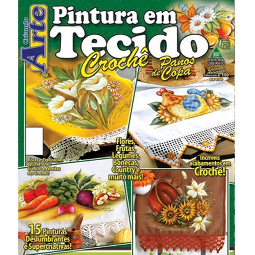 Revista pintura em tecido revistas bordados sacaria ouro for Pinturas para el hogar