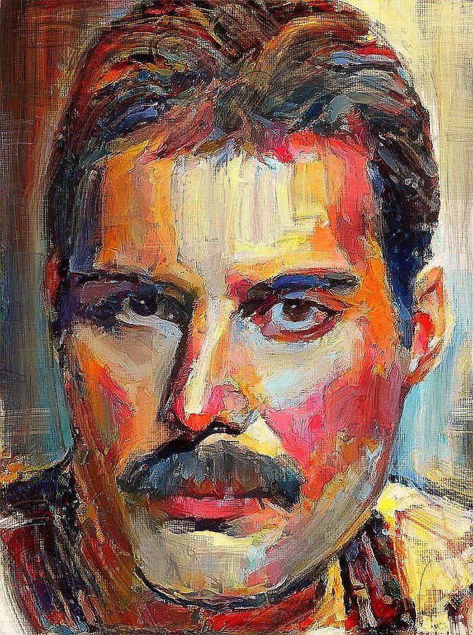 Freddie Mercury Colorful Portrait Digital Art by Yury ...