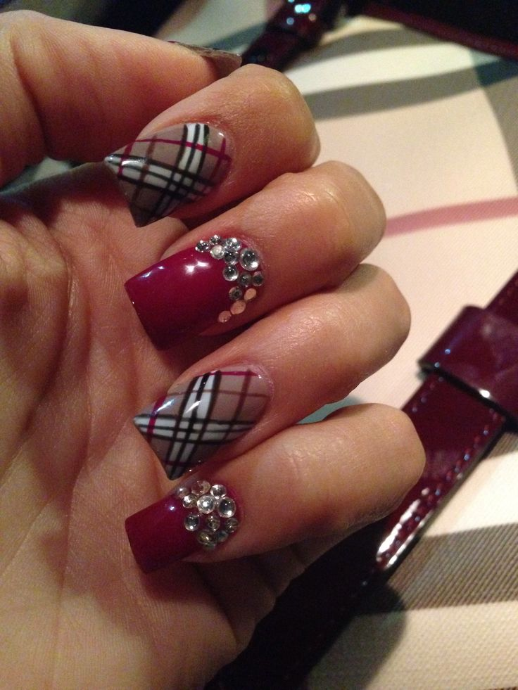 burberry nail art nails pinterest burberry nails. Black Bedroom Furniture Sets. Home Design Ideas