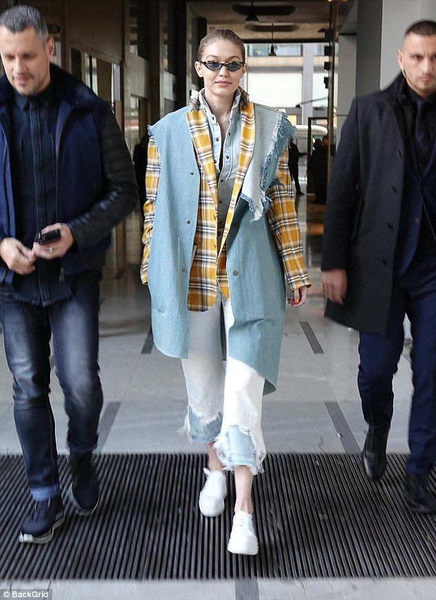 Flying solo! Gigi also stepped out in the fashion capital on her own for a low-key trip du... #gigihadid