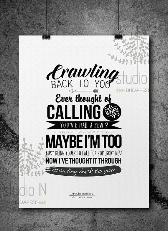 Arctic Monkeys lyrics, Arctic Monkeys Poster Print, Do I ...