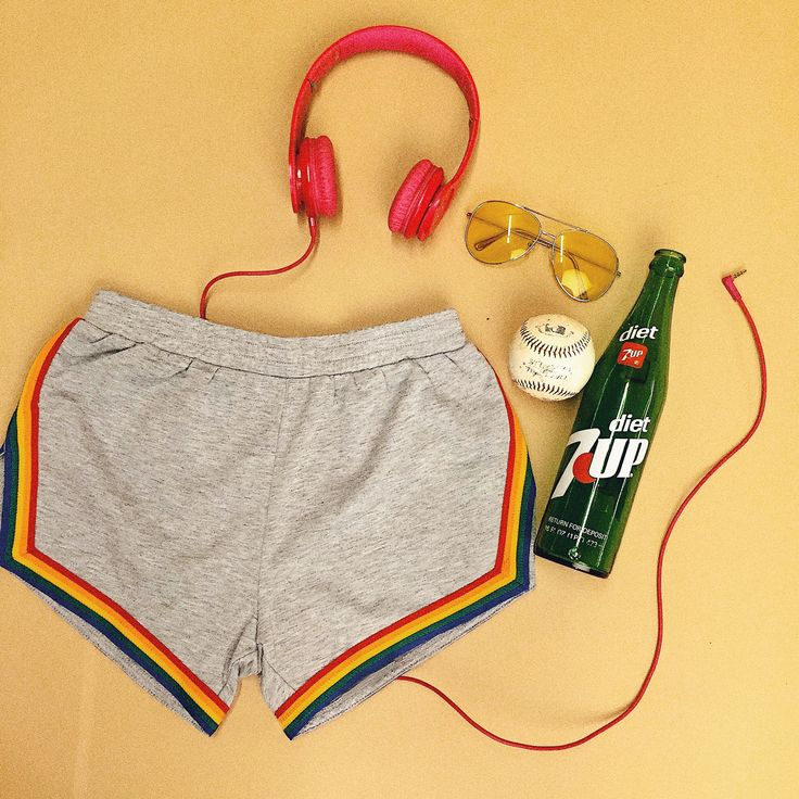 Sporty vibes on a Monday. Rainbow shorts available exclusively at ban.do #campcollection #bandoworkitout