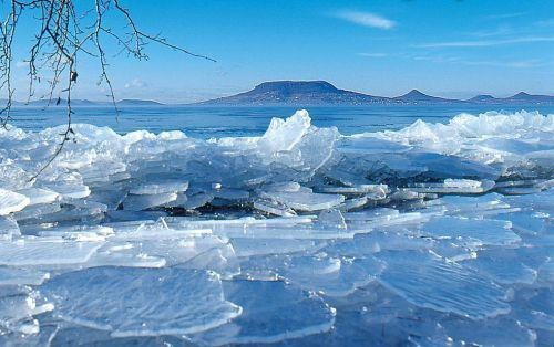 Lake Balaton in winter #Hungary....Ray use to go to Lake Balaton w/his Dad