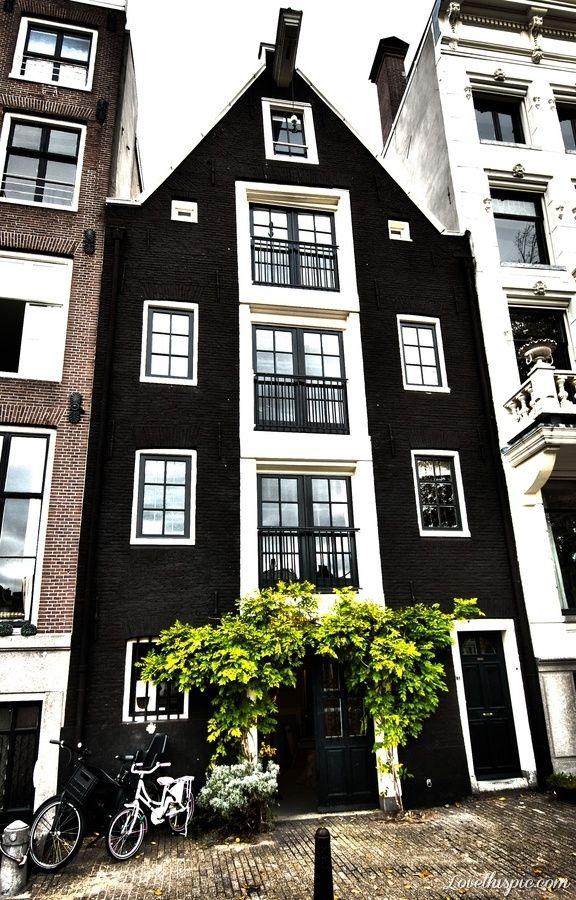 Amsterdam, Holland black brick exterior exterior design ideas exterior design black house brick house