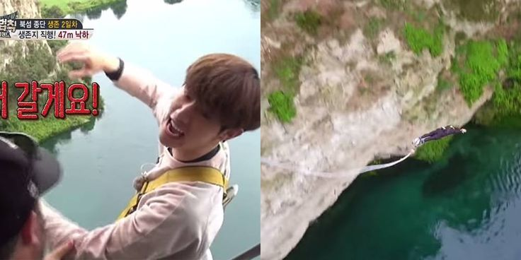UEE and #GOT7's Mark go for a terrifying bungee jump on 'Laws of the Jungle' in New Zealand http://www.allkpop.com/article/2017/05/uee-and-got7s-mark-go-for-a-terrifying-bungee-jump-on-laws-of-the-jungle-in-new-zealand